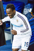Essien exit the changing rooms