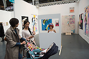 BEA BONIFINI, PERFORMANCE, BOSSE AND BAUM GALLERY, Opening of ART15, Olympia, London. 20 May 2015