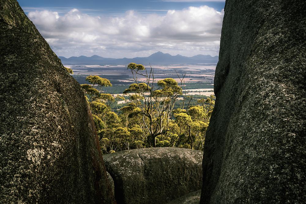 View of Stirling Range from Castle Rock at Porongurup Range, Western Australia.