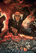 MEXICO, GUADALAJARA 'Father Hidalgo' mural by Orozco