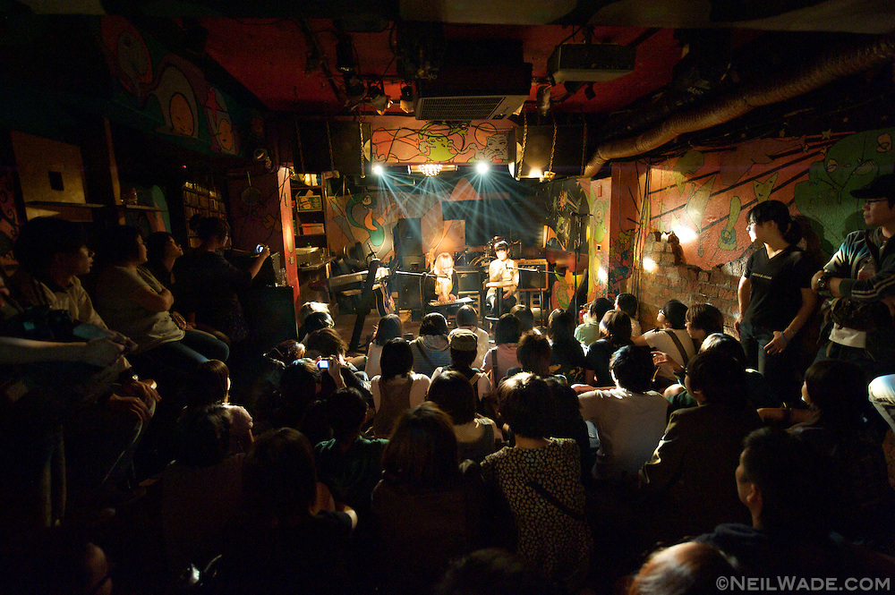 """A intimate setting at the live music venue """"The Underworld"""" in Taipei, Taiwan."""