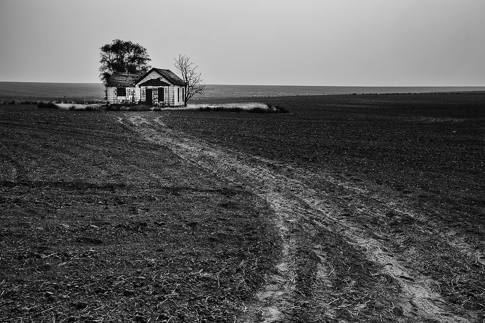 Over time, some farmers gave up or sold out to bigger farms. This abandoned farm house sits outside of Hartline.