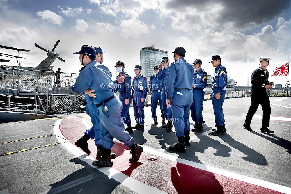 Nederland,Amsterdam ,16 July 2008..Japanese military ships in Amsterdam.
