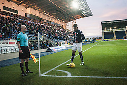 Falkirk's Myles Hippolyte. Falkirk 1 v 1 Morton, Scottish Championship game played 5/11/2016 at The Falkirk Stadium. Pic Ross Schofield.