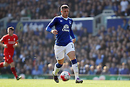 Ross Barkley of Everton in action. Barclays Premier League match, Everton v Liverpool at Goodison Park in Liverpool on Sunday 4th October 2015.<br /> pic by Chris Stading, Andrew Orchard sports photography.