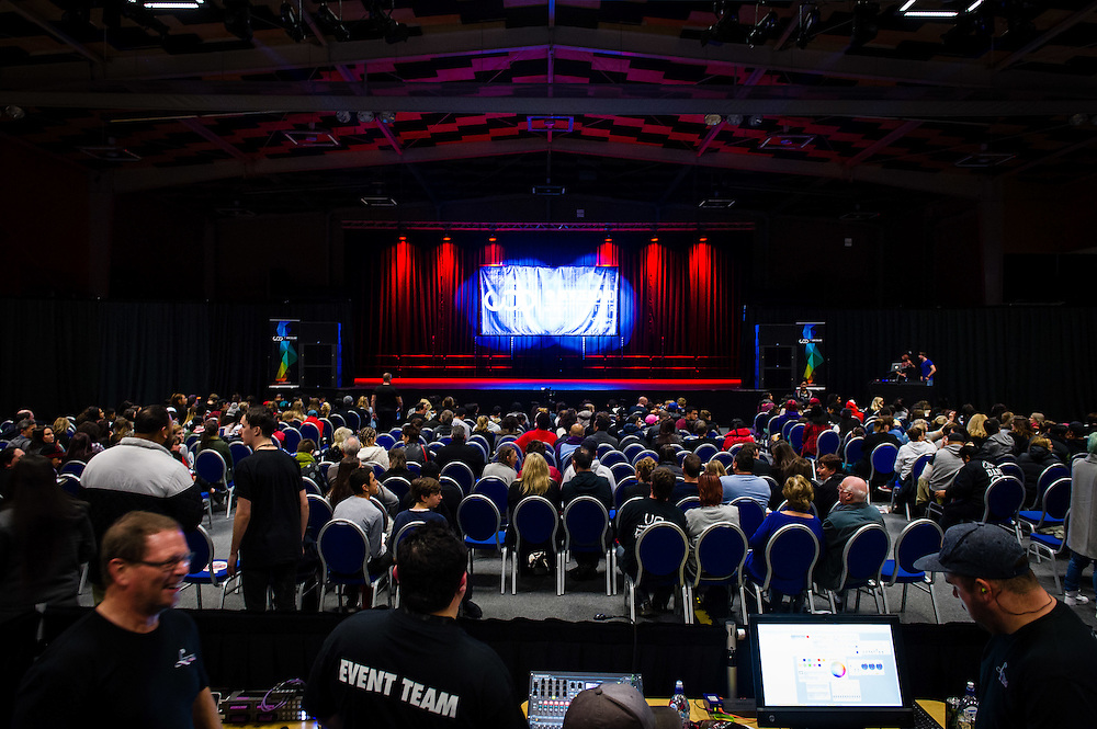 WELLINGTON, NEW ZEALAND - May 23: Te Rauparaha Arena with World of Dance competition May 23, 2015 in Wellington, New Zealand. (Photo by Mark Tantrum/ http://mark tantrum.com)
