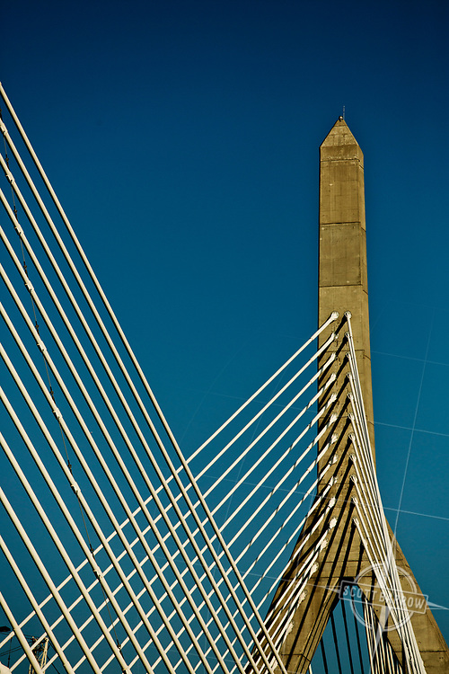 The Zakim Bridge.  The Leonard P. Zakim Bunker Hill Memorial Bridge is a cable-stayed bridge across the Charles River in Boston, Massachusetts.
