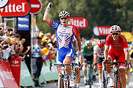 Arrival, Arnaud Demare (FRA - Groupama - FDJ) winner, Christophe Laporte (FRA - Cofidis), during the 105th Tour de France 2018, Stage 18, Trie sur Baise - Pau (172 km) on July 26th, 2018 - Photo Luca Bettini / BettiniPhoto / ProSportsImages / DPPI