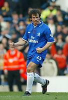 Photo: Scott Heavey<br /> Chelsea V Tottenham Hotspur. 01/02/03. <br /> Gianfranco Zola celebrates his equalizing free kick during this premiership clash at Stamford Bridge.