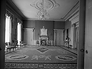 Interior view of the State Reception Room at Áras an Uachtarain..01.04.1962