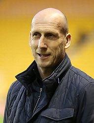 """Reading manager Jaap Stam before the Sky Bet Championship match at Molineux, Wolverhampton. PRESS ASSOCIATION Photo. Picture date: Tuesday March 13, 2018. See PA story SOCCER Wolves. Photo credit should read: Nigel French/PA Wire. RESTRICTIONS: EDITORIAL USE ONLY No use with unauthorised audio, video, data, fixture lists, club/league logos or """"live"""" services. Online in-match use limited to 75 images, no video emulation. No use in betting, games or single club/league/player publications."""