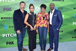 September 13, 2016 - Los Angeles, Kalifornien, USA - Eddie Cibrian, Jaina Lee Ortiz, Gabrielle Dennis und Morris Chestnut bei der Premiere der FOX TV-Serie 'Pitch' auf dem West LA Little League Field. Los Angeles, 13.09.2016 (Credit Image: © Future-Image via ZUMA Press)