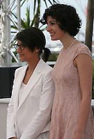 Director Chloé Robichaud  and actress Geneviève Boivin-roussy at the 'Sarah Prefere La Course' (Sarah Would Rather Run) film photocall at the Cannes Film Festival Tuesday 21 May 2013