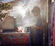 Chai vendor on the street, Lucknow, Uttar Pradesh, India