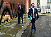 © Licensed to London News Pictures. 05/12/2012. Westminster, UK British Chancellor of the Exchequer George Osborne (R) on Downing Street today, 5th December 2012, prior to giving his Autumn Statement to the House of Commons on the UK economy. Photo credit : Stephen Simpson/LNP