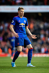 7 May 2017 - Premier League - Arsenal v Manchester United - Scott McTominay of Manchester United - Photo: Marc Atkins / Offside.