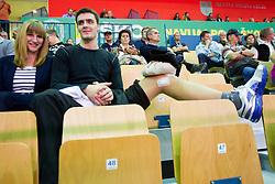 during handball match between RK Celje Pivovarna Lasko and RK Gorenje Velenje in 5th Round of 1. NLB Leasing Handball League 2012/13 on October 3, 2012 in Arena Zlatorog, Celje, Slovenia. (Photo By Vid Ponikvar / Sportida)