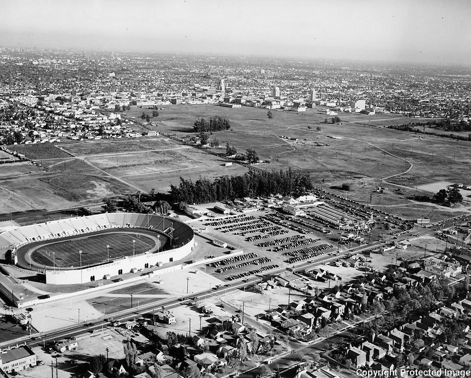 1938 Aerial of Gilmore Stadium