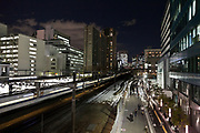 Tokyo at night by Tamachi station Shibaura district