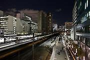 Tokyo at night by Tamachi station Shibaura district