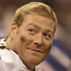 August 21, 2010; New Orleans, LA, USA; New Orleans Saints tight end Jeremy Shockey (88) on the bench during a 38-20 win by the New Orleans Saints over the Houston Texans during a preseason game at the Louisiana Superdome. Mandatory Credit: Derick E. Hingle