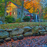 New England fall foliage peak colors at the Wayside Inn Grist Mill in Sudbury, Massachusetts.<br /> <br /> Massachusetts fall foliage photos are available as museum quality photo, canvas, acrylic, wood or metal prints. Wall art prints may be framed and matted to the individual liking and interior design decoration needs:<br /> <br /> https://juergen-roth.pixels.com/featured/massachusetts-fall-foliage-at-the-wayside-inn-historic-district-juergen-roth.html<br /> <br /> Good light and happy photo making!<br /> <br /> My best,<br /> <br /> Juergen