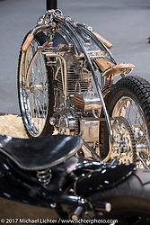 29-year old Dima Golubchikov of Zillers Garage in Moscow built this amazing 500 cc Jawa with a BSA Transmission that took first place in the Custom and Tuning Show in Moscow, Russia. Friday April 21, 2017. Photography ©2017 Michael Lichter.