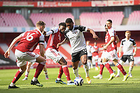 Football - 2020 /2021 Premier League - Arsenal v Fulham - Emirate Stadium<br /> <br /> Fulham's Ivan Cavaleiro holds off the challenge from Arsenal's Thomas Partey during this afternoon's game.<br /> <br /> COLORSPORT