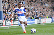 Queens Park Rangers Danny Simpson in action.  Skybet football league championship match , Queens Park Rangers v Blackpool at Loftus Road in London  on Saturday 29th March 2014.<br /> pic by John Fletcher, Andrew Orchard sports photography.