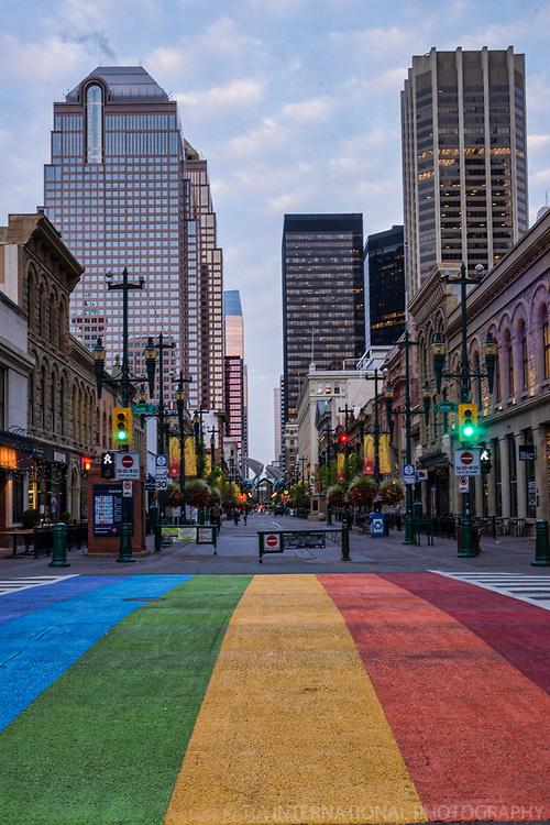 Rainbow Crossing, Stephen Avenue Walk, Morning