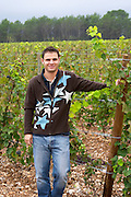The new generation winemaker, the son of Jean-Pierre Rambier Domaine Haut-Lirou in St Jean de Cuculles. Pic St Loup. Languedoc. Owner winemaker. France. Europe.