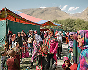 Women disperse at the end of an official opening of an itinerant school aimed at educating women and their children. The school was initiated by the Rupani foundation.  The life of the Wakhi people, in the Wakhan corridor, amongst the Pamir mountains. Trekking with Paul Salopek.