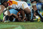 Brendon Leonard held up. Waratahs v Chiefs. 2013 Investec Super Rugby Season. Allianz Stadium, Sydney. Friday 19 April 2013. Photo: Clay Cross / photosport.co.nz