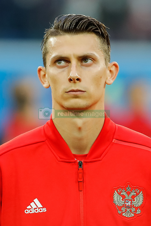 June 19, 2018 - Saint Petersburg, Russia - Ilya Kutepov of Russia national team during the 2018 FIFA World Cup Russia group A match between Russia and Egypt on June 19, 2018 at Saint Petersburg Stadium in Saint Petersburg, Russia. (Credit Image: © Mike Kireev/NurPhoto via ZUMA Press)