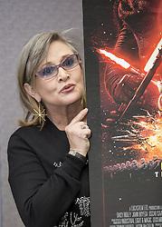 December 4, 2015 - Hollywood, CA, USA - Carrie Fisher ''Star Wars the Force Awakens' (Credit Image: © Armando Gallo via ZUMA Studio)