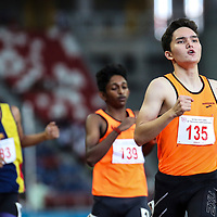 Brandon Norton (#135) of Singapore Sports School in action during the B Division boys' 1500m final. (Photo © Lim Yong Teck/Red Sports)