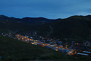 SHOT 7/1/17 8:26:49 PM - Park City lies east of Salt Lake City in the western state of Utah. Framed by the craggy Wasatch Range, it's bordered by the Deer Valley Resort and the huge Park City Mountain Resort, both known for their ski slopes. Utah Olympic Park, to the north, hosted the 2002 Winter Olympics and is now predominantly a training facility. In town, Main Street is lined with buildings built during a 19th-century silver mining boom. (Photo by Marc Piscotty / © 2017)