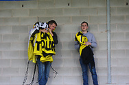 Dejected Burton Albion fans pack away the banners during the EFL Sky Bet Championship match between Burton Albion and Ipswich Town at the Pirelli Stadium, Burton upon Trent, England on 28 October 2017. Photo by John Potts.