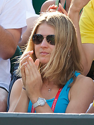 LONDON, ENGLAND - Wednesday, June 23, 2010: Lucie Safarova (CZE) watches her boyfriend Tomas Berdych (CZE) during the Gentlemen's Singles 2nd Round match on day three of the Wimbledon Lawn Tennis Championships at the All England Lawn Tennis and Croquet Club. (Pic by David Rawcliffe/Propaganda)