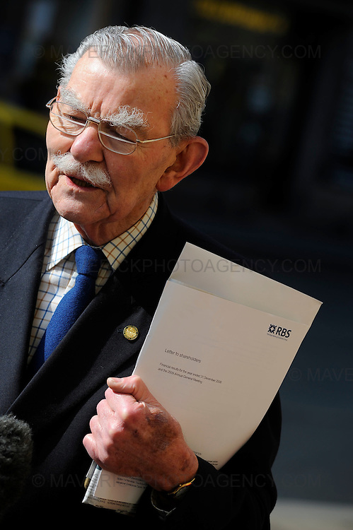 Shareholders of the Royal Bank of Scotland arrive at the Edinburgh International Conference centre to attend the companies annual general meeting on April 3rd, 2009 in Edinburgh, Scotland.  Shareholders are expected to express their anger at its past and present directors.