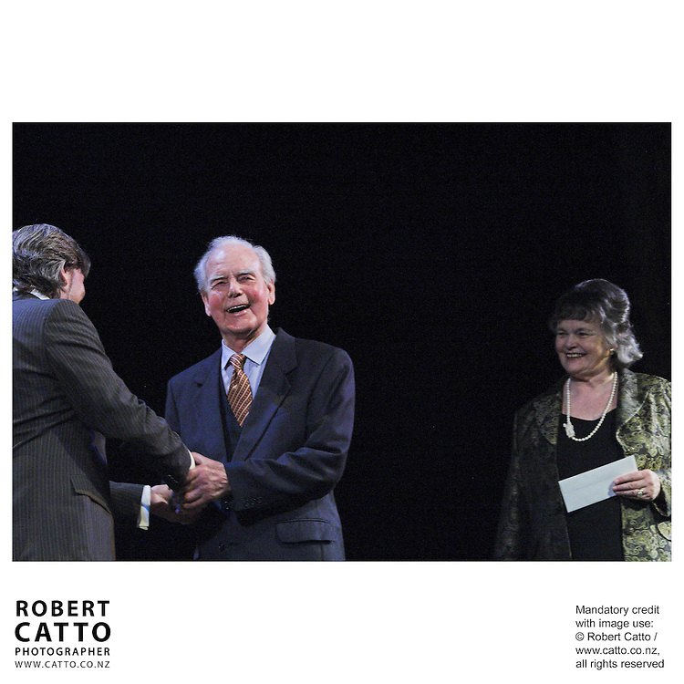 Warren Maxwell;Donald Munro;Anne Mace at the Arts Foundation of New Zealand New Generation Awards at the St James Theatre, Wellington, New Zealand.<br />