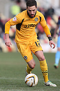 Robbie Willmott of Newport County. Skybet football league 2 match, Newport county v Scunthorpe Utd at Rodney Parade in Newport, South Wales on Saturday 1st March 2014.<br /> pic by Mark Hawkins, Andrew Orchard sports photography.