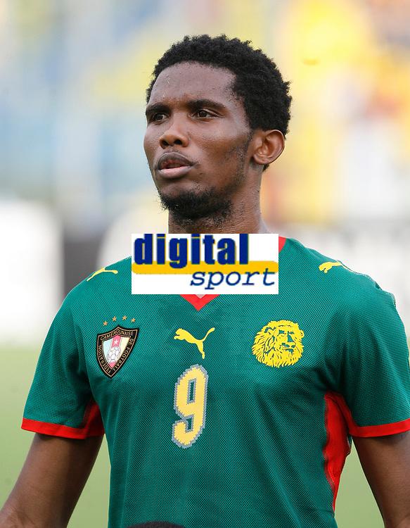 Photo: Steve Bond/Richard Lane Photography.<br /> Ghana v Cameroon. Africa Cup of Nations. 07/02/2008. Samuel Eto'o of Cameroon and Barcelona