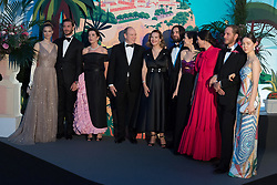 Beatrice Casiraghi, Pierre Casiraghi, Princess Caroline of Hanover, Prince Albert II of Monaco, Carole Bouquet, Dimitri Rassam, Charlotte Casiraghi, Tatiana Casiraghi Andrea Casiraghi and Alexandra of Hanover attend the Rose Ball 2019 at Sporting in Monaco, Monaco on March 30, 2019. Photo by Jacques Witt-Pool/ABACAPRESS.COM