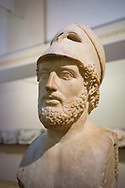 Pericles (495-429 BC). Greek statesman. Orator and general of Athens during the Golden Age. Roman copy of 2nd AD. From Hadrian's Villa. Tivoli. Italy. British Museum. London. England.
