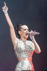 Katy Perry headlines Sunday night on the main stage, at BBC Radio 1's Big Weekend Glasgow 2014.