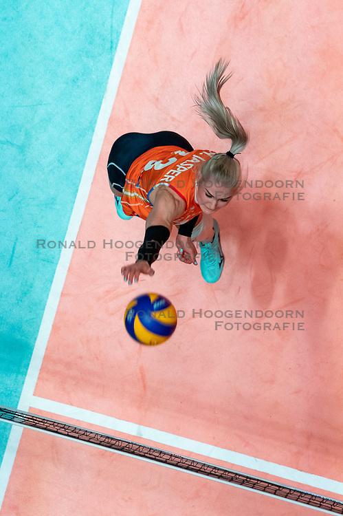 28-05-2019 NED: Volleyball Nations League Netherlands - Brazil, Apeldoorn<br /> <br /> Hester Jasper #13 of Netherlands