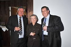 Left to right, Chef BRIAN TURNER, LESLEY GRAY Principal of Le Cordon Bleu Cookery School and JOHN WILLIAMS Executive Chef at The Ritz,   at the Grand Opening of Le Cordon Bleu's International Flagship School at 15 Bloomsbury Square, London WC1 on 7th February 2012.