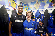 Mascot pics before the EFL Sky Bet League 1 match between AFC Wimbledon and Plymouth Argyle at the Cherry Red Records Stadium, Kingston, England on 26 December 2018.