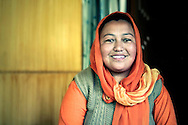 India, Ladakh. Smiling muslim woman from Thiksey.